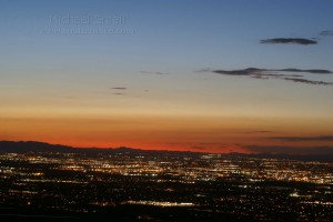Sunset over Phoenix - seen from South Mountain