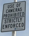 Use of Cameras Prohibited