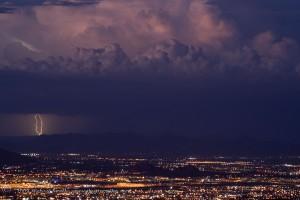 Desert Thunderstorm Lightning Photo