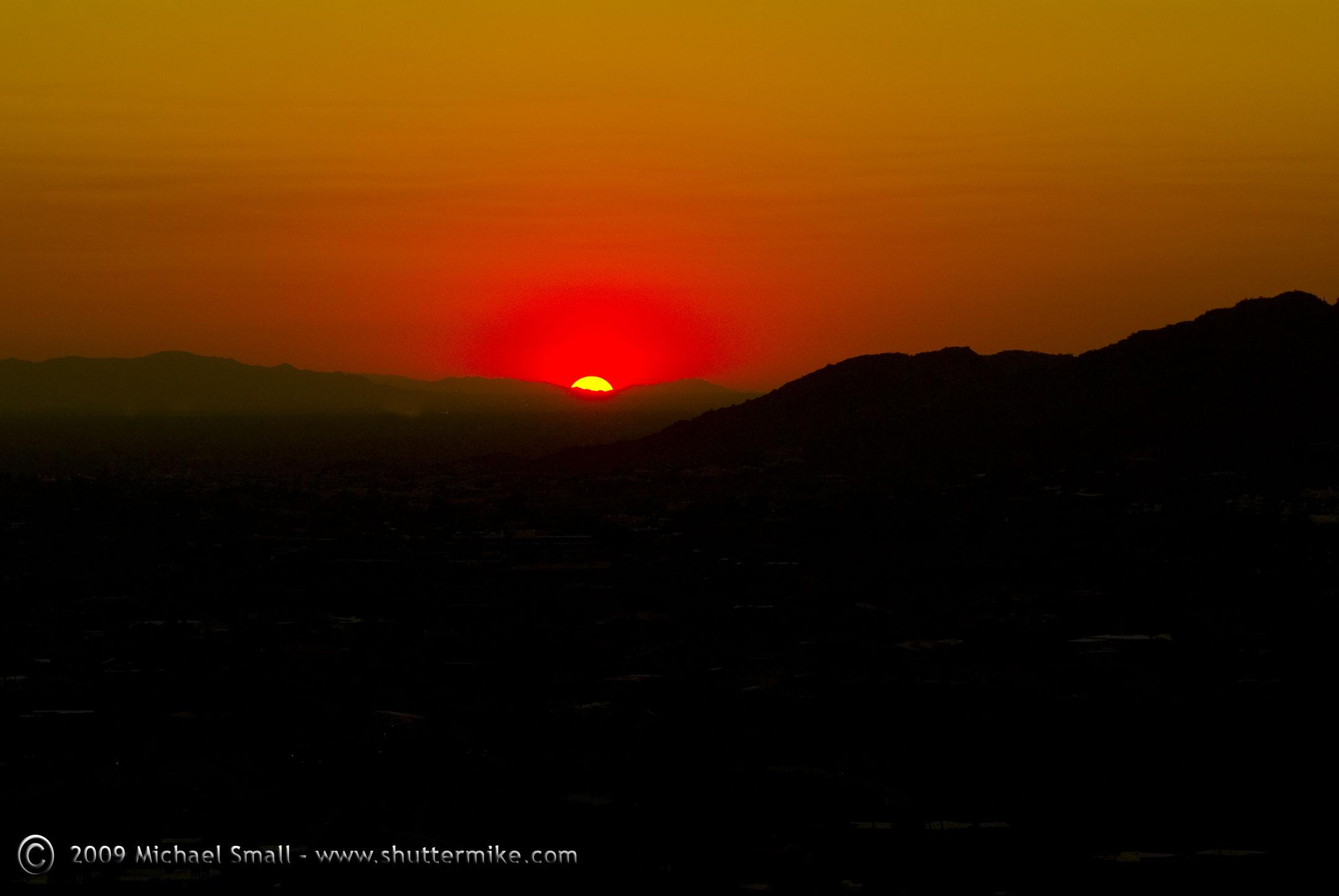 Sunset Camelback Mountain Camelback Mountain