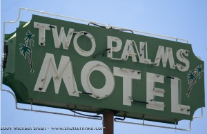 Grand Ave Phoenix Sign Photography - Two Palms Motel