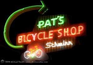 Pat's Bicycle Shop Vintage Neon Sign, Mesa, AZ