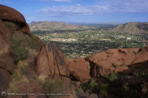 Paradise Valley Photographed from Camelback Mountain