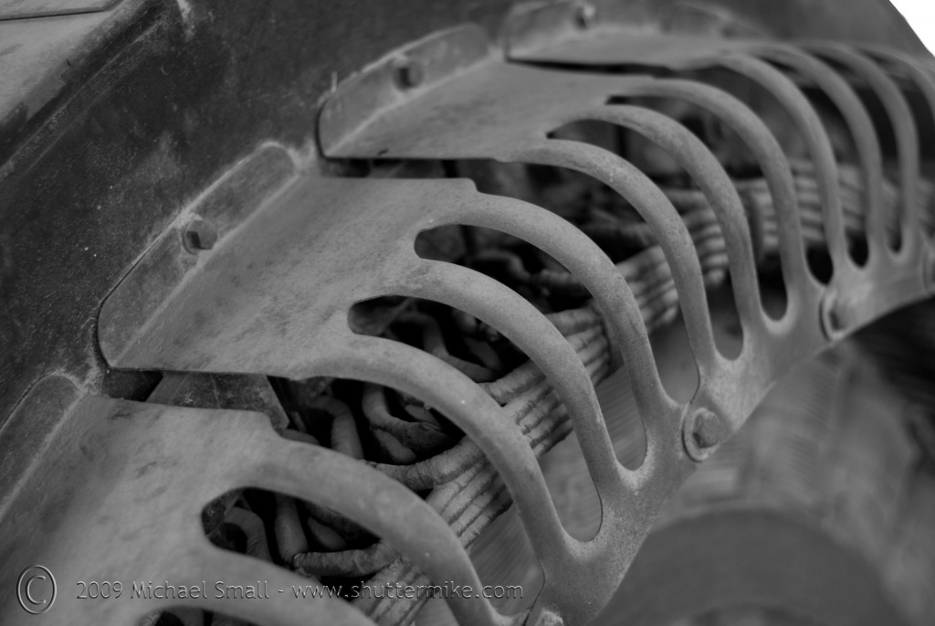 Photo detail of mining equipment in Vulture City, AZ