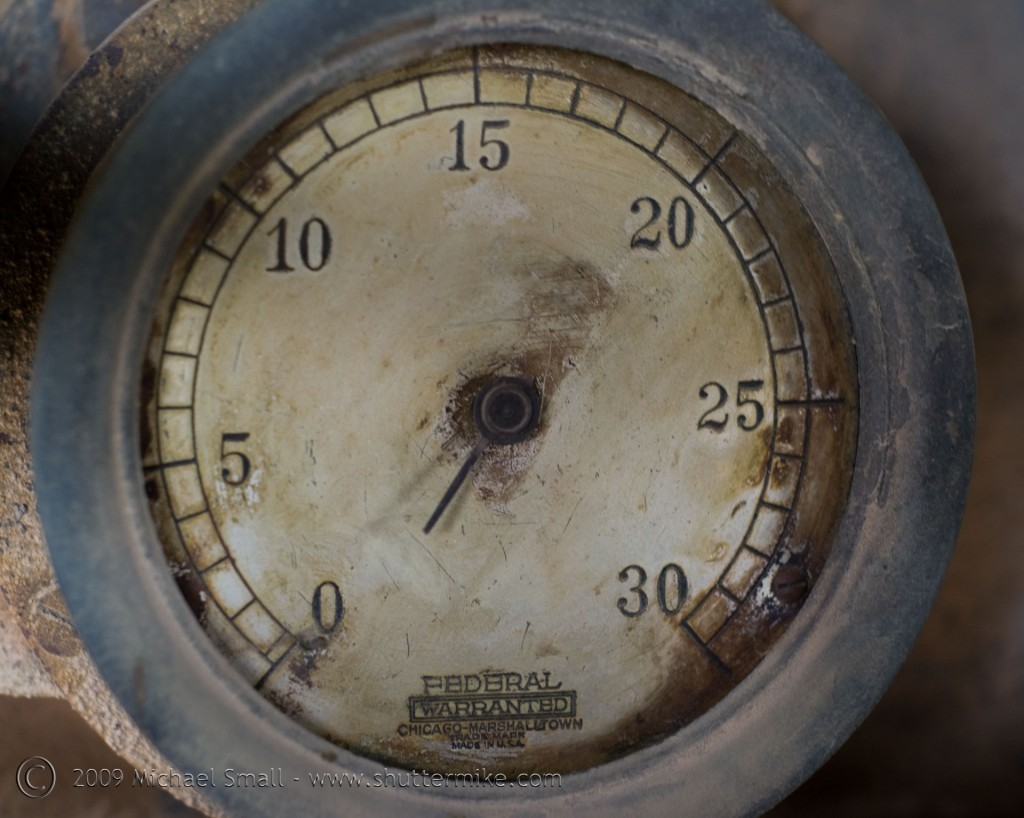 Photo of an old machine dial