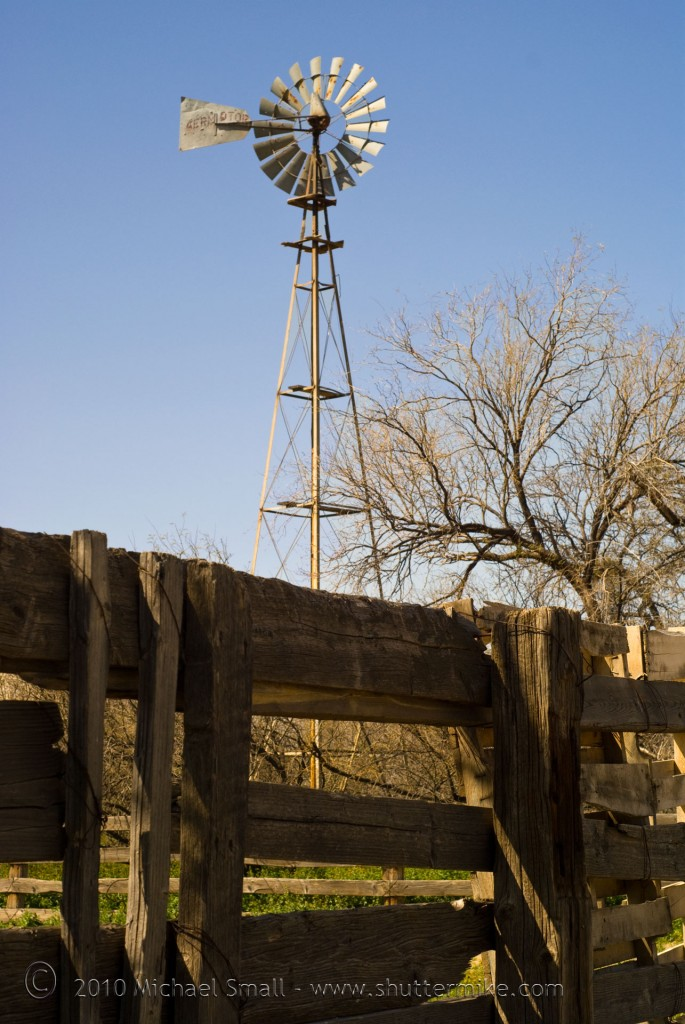 Photo of a windmill on a ranch