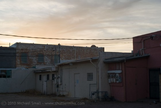 Photo of a back alley in Chandler, AZ