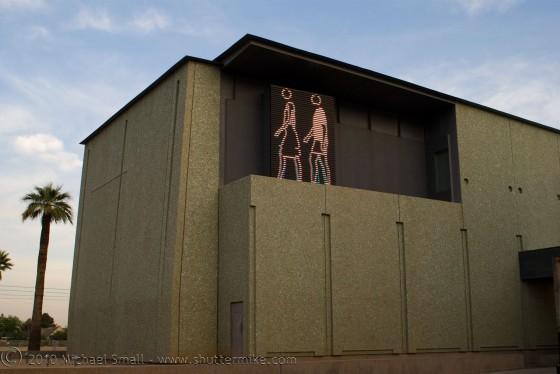 Photo of Phoenix Art Museum animated LED exhibit