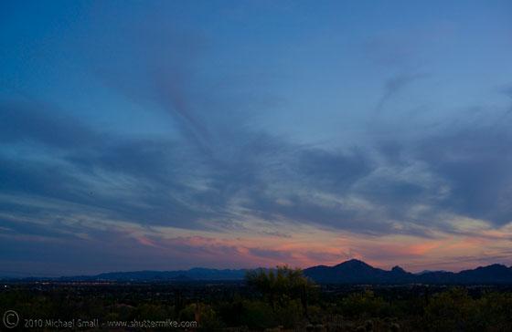Photo of the sun set in Phoenix