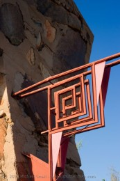 Photo of Frank Lloyd Wright's Logo at Taliesin West
