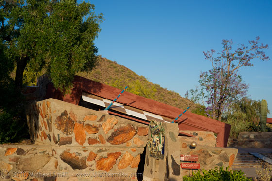 Photo of Frank Lloyd Wright's Office at Taliesin West