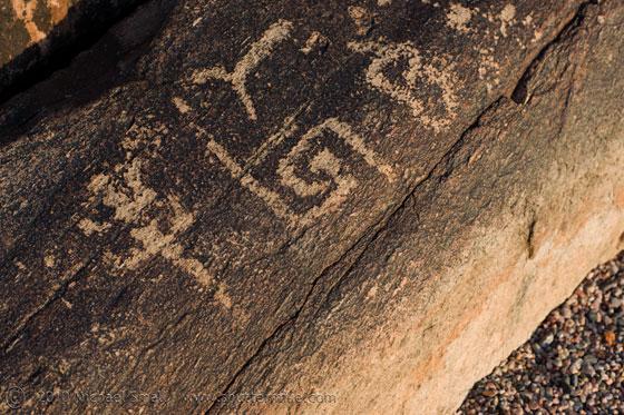 Photo of rock art (petroglyphs) at Taliesin West