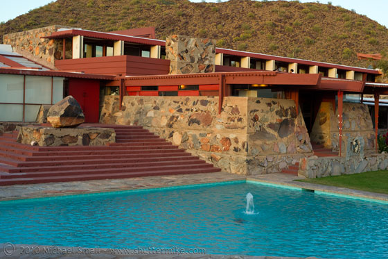 Photo of Frank Lloyd Wright's Taliesin West