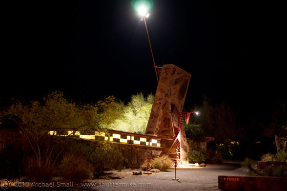 Photo of Frank Lloyd Wright School of Architecture, Taliesin West at night