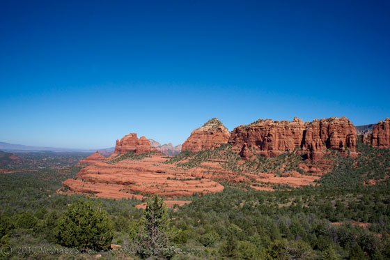 Photo of the famous Sedona red rocks