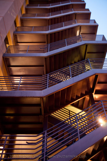 Photo of a parking garge staircase in Phoenix