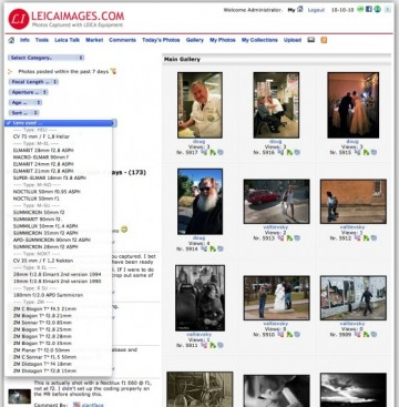 Screen Shot of the LeicaImages.com search page