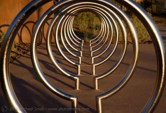Photo of the bicycle rack at the Musical Intrument Museum in Scottsdale, AZ