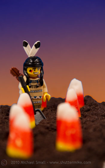 Photo of the indian Lego mini fig and candy corn