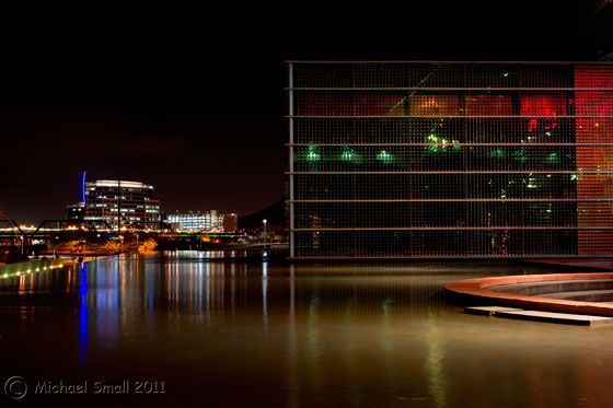 Photo of Tempe Center for the Arts at night