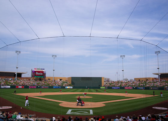 Photo of AZ Diamondbacks sprint training att the Salt River Fields in Scottsdale
