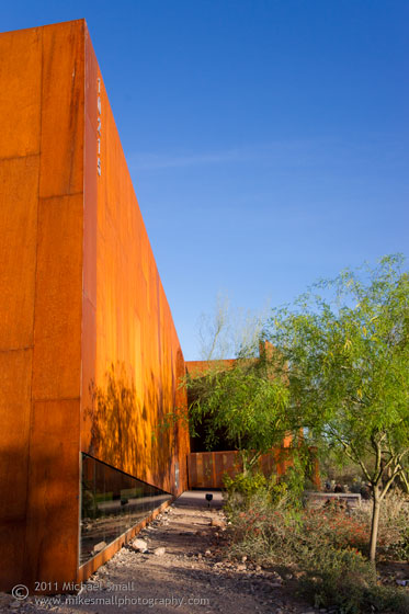 Architectural photography at the Arabian Library in Scottsdale