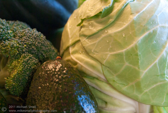 Still life photo of green vegetables.