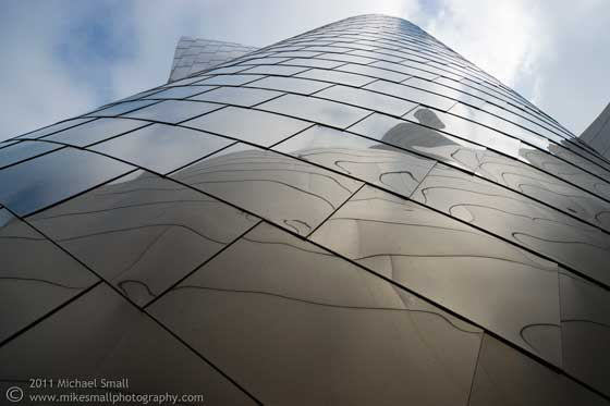 Architectural detail photograph of the Walt Disney Concert Hall