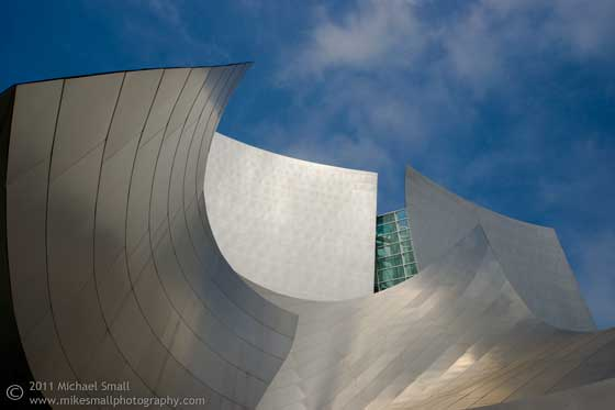 Architectural photo of the Walt Disney Concert Hall in Los Angeles