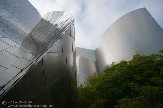 Architectural photograph of the Walt Disney Concert Hall