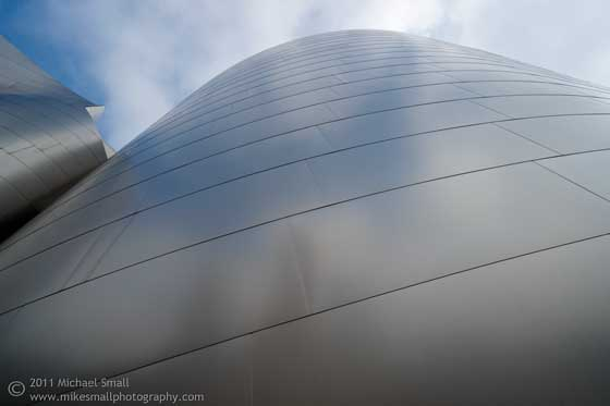 Architectural Photograph of the Walt Disney Concert Hall in LA