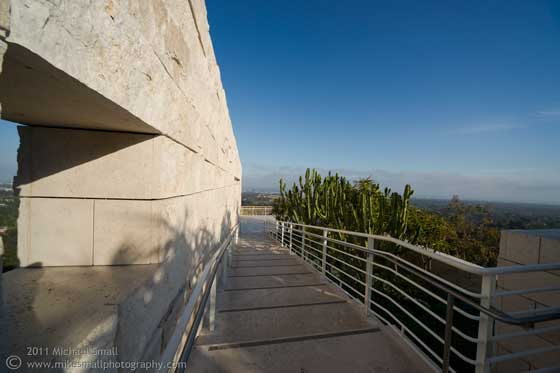 Photo of the view from the Getty Center in LA