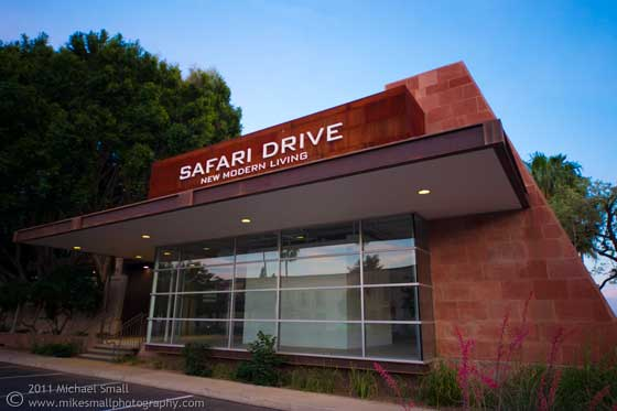 Architectural photograph of Safari Drive in Scottsdale, AZ