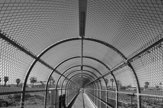 Photo of a pedestrian overpass in Phoenix, AZ