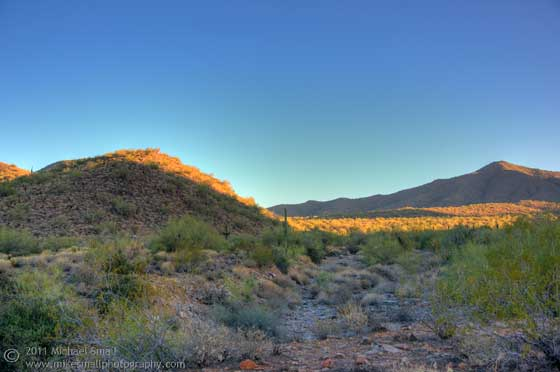 Photo of the sunrise in the McDowell Sonoarn Preserve