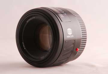Photo of a Minolta 50 mm prime lens