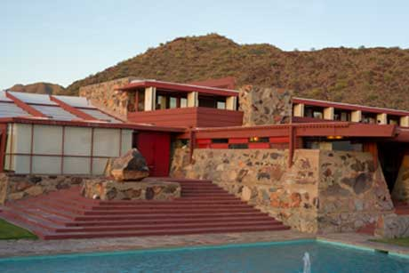 A photo of taliesin West before replacing the sky in Photoshop