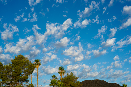 Photograph of a beautiful blue Arizona Sky