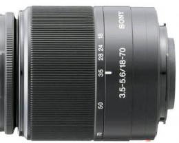 Image of a Sony DT 18-70 mm Lens