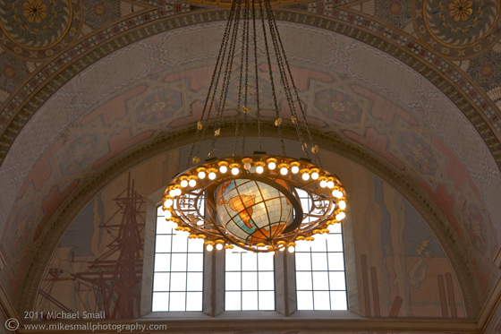 Photo of the Los Angeles Central Public Library Rotunda Chandelier