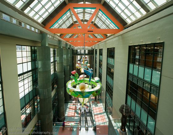 Architectural photo of the Los Angeles Central Library atrium
