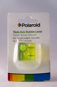 Photo of the Polaroid Triple Axis Hot Shoe Mount Bubble Level