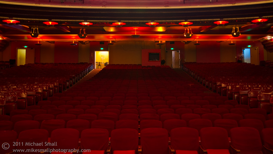 Photograph of the auditorium of the Million Dolalr Theater in LA