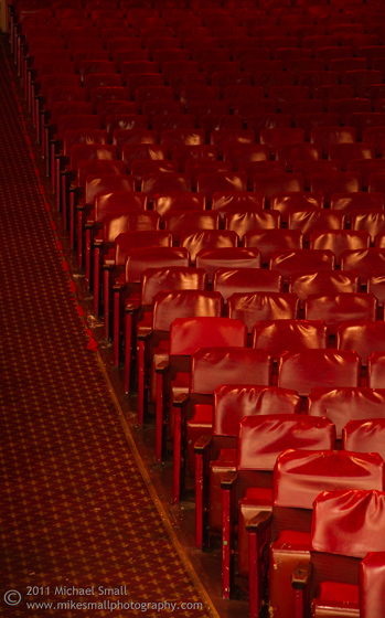 Photograph of an aisle in the Million Dollar Theater in LA