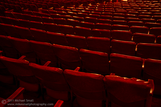 Photograph of the seats at the Million Dollar Theater in LA