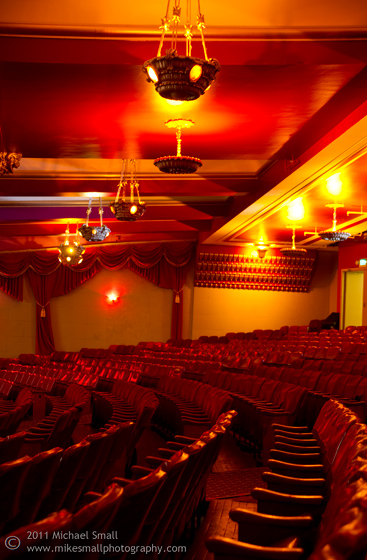Architectural photo of the interior of the Million Dollar Theater in LA