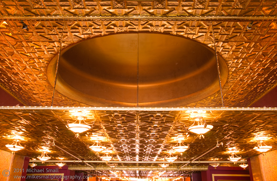 Architectural photograph of the lobby of the Million Dollar Theater in LA