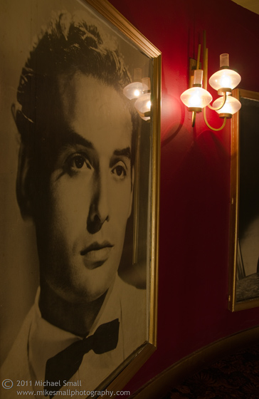 Photograph of a lobby poster at teh Million Dollar theater in LA