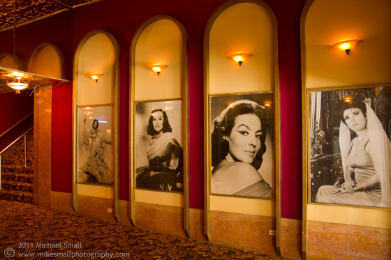 Photo of the lobby of the Million Dollar Theater in Los Angeles
