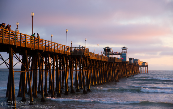 Photo of the Oceanside Pier at sunset